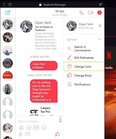 Opera GX messangers