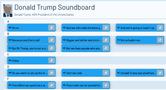 Play Donald Trump Soundboard