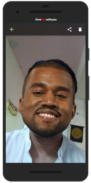 Put Kanye face and funny expressions
