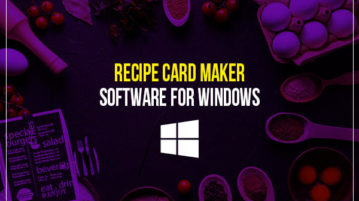 Recipe card maker software for Windows