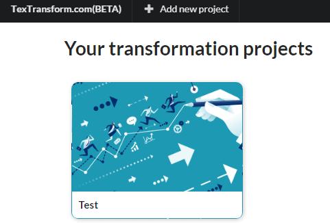 TextTransform Dashboard