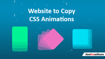 Website to copy CSS animations