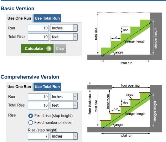 4 Online Stair Calculators Free Websites