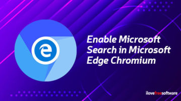 enable microsoft search in microsoft edge chromium