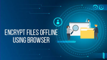 encrypt files offline using browser