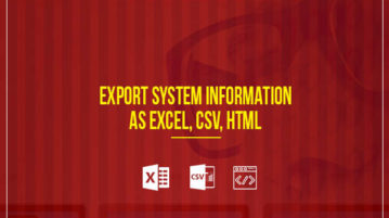 export system information as excel, csv, html
