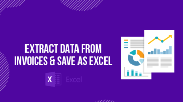 extract data from invoices and save as excel