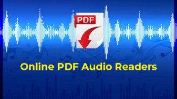free online pdf audio readers