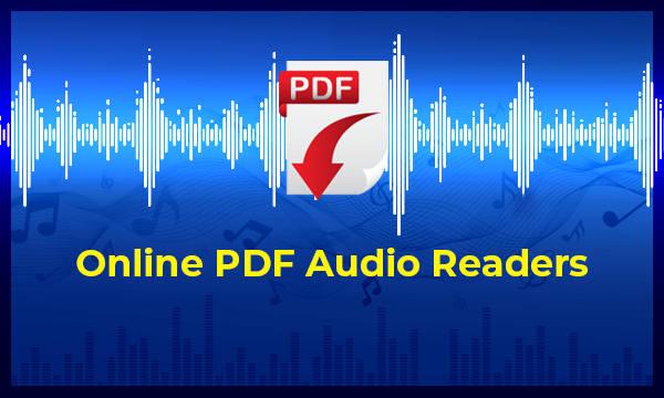 3 Free Online PDF Audio Reader Websites