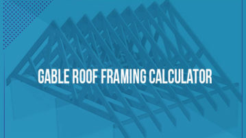 gable roof framing calculators