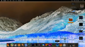 macOS colors invert in action