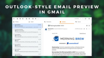 How to get Outlook-Style Email Preview in Gmail?