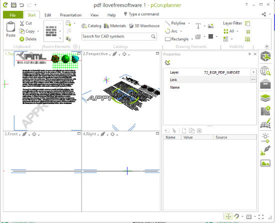 pCon.planner software interface