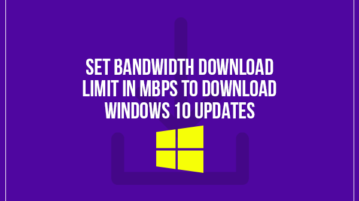 set bandwidth download limit in mbps to download windows 10 updates