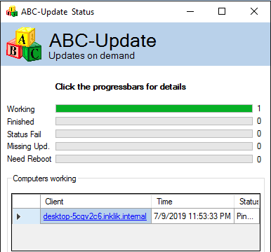 ABC-Update progress