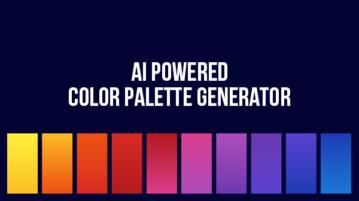 AI powered color palette generator