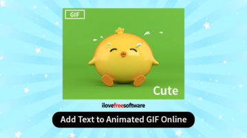 Add text to animated GIF online