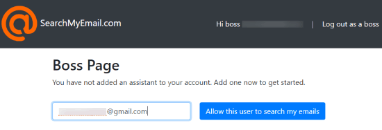Add the email id of your assistant