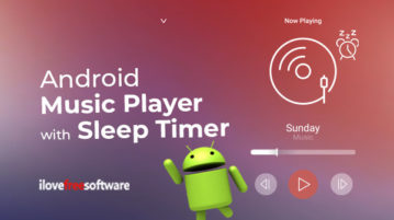 Android Music Player with Sleep Timer