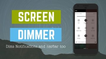 Free Android Screen Dimmer App That Dims Notifications Too
