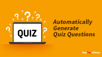 Automatically generate quiz questions