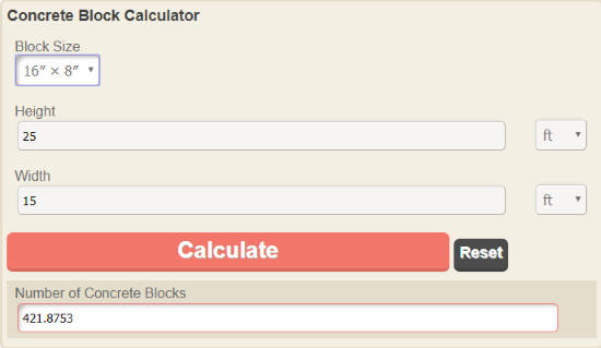 Block Calculator