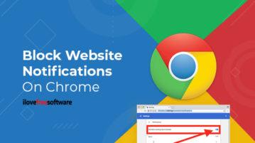 Block Website Notifications On Chrome