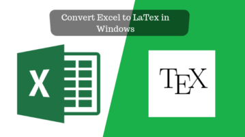 Convert Excel to LaTex in Windows Free