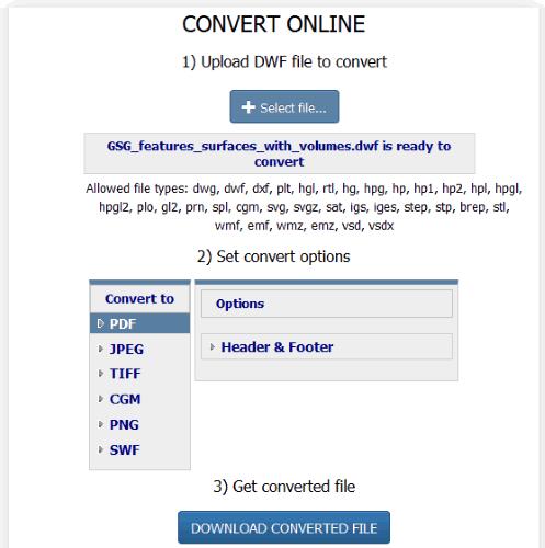 2 Online DWF to PDF Converter Free Websites