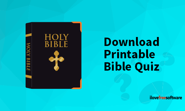 Download Printable Bible Quiz From These Free Websites