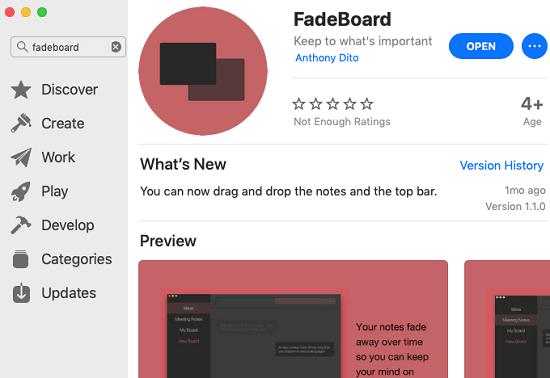 FadeBoard on app store