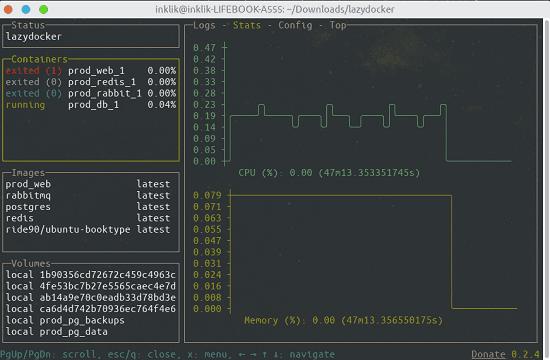 Free UI for Docker and docker-compose Lazydocker