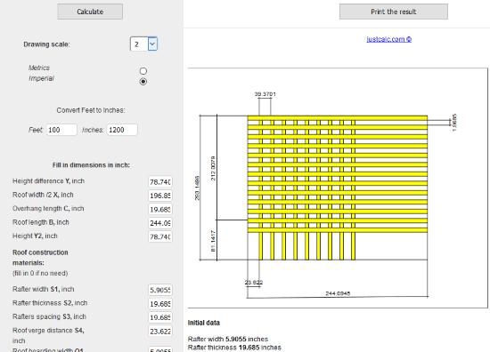 Gambrel Roof Calculator