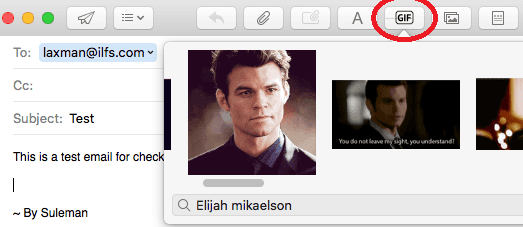 Giphy Apple Mail Extension Search GIFs