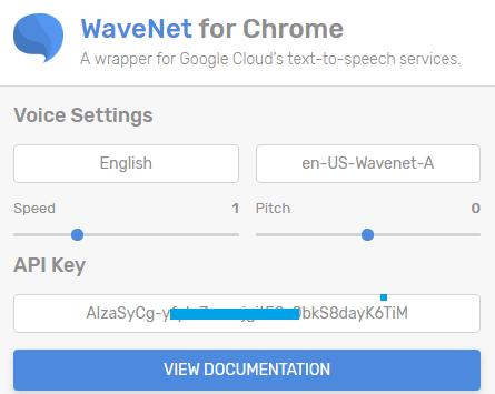 Google Text to Speech Chrome Extension
