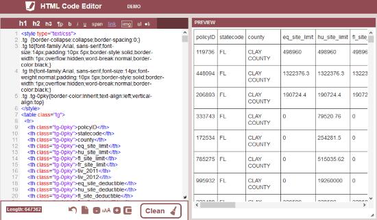 HTML Code Editor