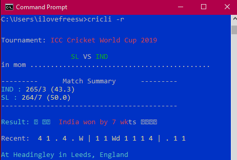 How to See Live Cricket Score with Commentary in Terminal