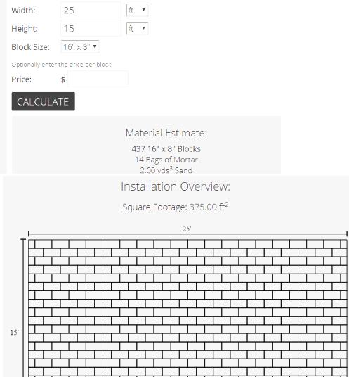 Inchcalculator- concrete block calculator