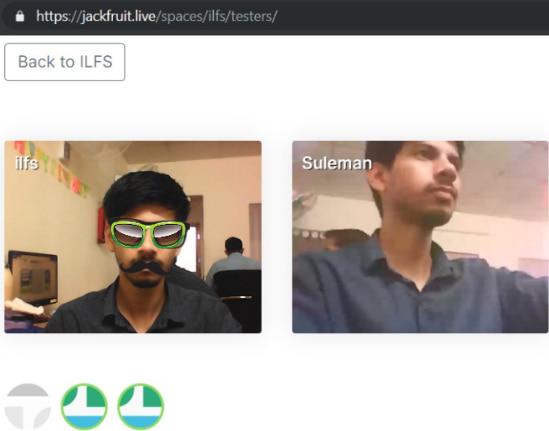 Jackfruite video chat room in action