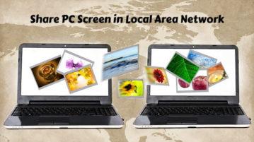 LAN Screen Sharing Software for Windows