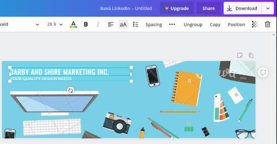 LinkedIn banner maker