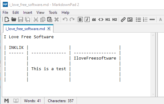 MarkdownPad 2- interface