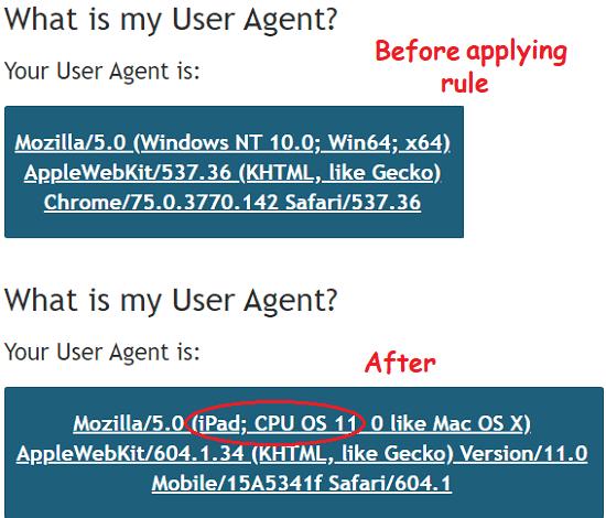 Modify HTTP Headers in URLs Dynamically