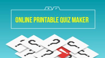 Online Printable Quiz Maker