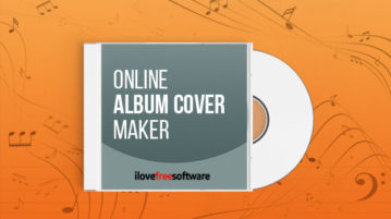 Online album cover maker