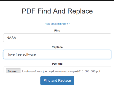 PDF Find And Replace