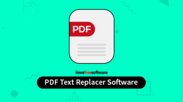 PDF text replacer software