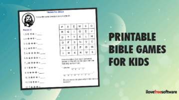 Printable Bible Games for Kids