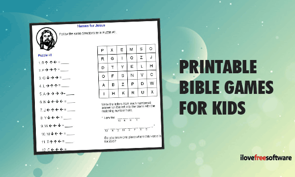 graphic regarding Free Printable Bible Games called Obtain Printable Bible Online games for Young children Working with this kind of No cost