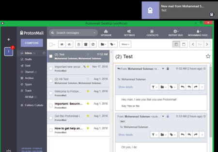ProtonMail Desktop App for Windows